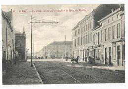 Gent La Chaussée De Meulestede Et Le Pont Du Muide Oude Postkaart Gand Carte Postale Ancienne - Gent