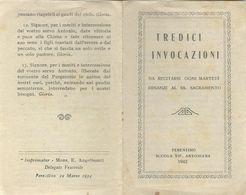 Libretto Tredici Invocazioni Ferentino 1942 (802) - Boeken, Tijdschriften, Stripverhalen