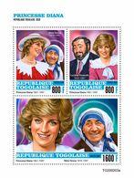 Togo 2020 Princess Diana. Mother Teresa. (0203a) OFFICIAL ISSUE - Mother Teresa