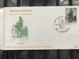 FDC 1577 DAG V/D POSTZEGEL 1971 RODAN P.326b STEMPEL EREMBODEGEM - 1971-80
