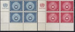 United Nations,New York-set 1957.,blocks Of Four,MNH - Neufs