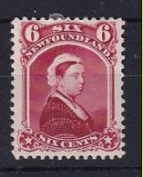 Newfoundland: 1868/73   QV    SG39     6c   Rose    MH - Newfoundland