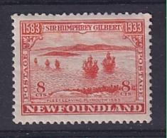 Newfoundland: 1933   350th Anniv Of Humphrey Gilbert's Annexation  SG242   8c    MH - 1908-1947