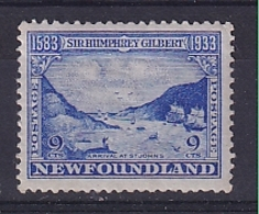 Newfoundland: 1933   350th Anniv Of Humphrey Gilbert's Annexation  SG243   9c    MH - 1908-1947