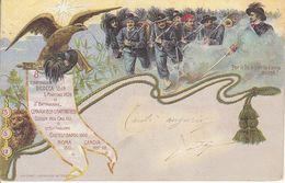 ITALIA - MILITARE - Leggi Testo, Litho Animata, Viag.1904 - 2020-D-14 - Regimente