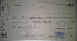 FATTURA LIBRERIA MILANO ANNO 1928 - Italien