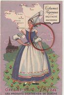 Machecoul---costume ---carte Publicité Aufra - Machecoul