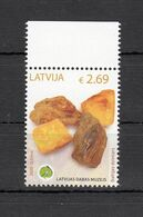 Latvia Lettland 2020 MNH **  Mi. Nr. 1101 Natural History-Amber - Letonia