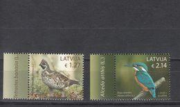 Latvia Lettland 2020 MNH **  Mi. Nr. 1106-07 Birds Grouse And Fish Woudpecker - Letonia