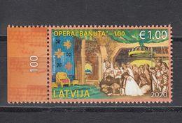 Latvia Lettland 2020 MNH **  Mi. Nr. 1110 The First Latvian Opera - Banuta - Letonia