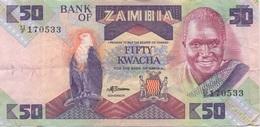 Zambie : 50 Kwacha Moyen état - Zambia