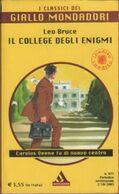 Il College Degli Enigmi - Leo Bruce - Libri, Riviste, Fumetti