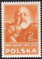 POLAND 1948 Culture Poland, Brat Albert, Adam Chmielowski, Nobleman, Painter, Stamp From Block Mi10 B486 - Nobel Prize Laureates