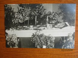 Funeral DEAD YOUNG WOMAN IN COFFIN , OLD  POSTCARD     , O - Funérailles