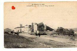 04527-LE-54-La Guerre De 1914-REHAINVILLER-Une Rue Du Village Bombardé-------------animée - Autres Communes