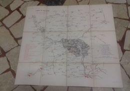Mappa 1870 Guerra Bataille Franco Prussiana General Frossard Mappe Maps Carte Prussian Arms Saarbrücken Battle - Carte Topografiche