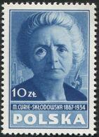 POLAND 1948 Culture Poland, Marie Skłodowska Curie, Physicist And Chemist, Noblewoman, Stamp From Block Mi10 F486 - Nobel Prize Laureates