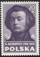 POLAND 1948 Culture Poland, Adam Mickiewicz, Poet, Dramatist, Essayist, Stamp From Block Mi10 H486 - Writers