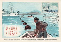 TOULOUSE (HAUTE GARONNE) : JOURNEE DU TIMBRE 1960 Oblitération Temporaire Sur CARTE POSTALE - Post
