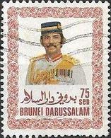 BRUNEI 1985 Sultan Sir Hassanal Bolkiah Mu'izzaddin Waddaulah - 75c - Multicoloured FU - Brunei (1984-...)