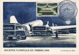 TOULOUSE (HAUTE GARONNE) : JOURNEE DU TIMBRE 1959 Oblitération Temporaire Sur CARTE POSTALE - Post