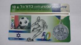 Israel-(bzp23)-foot Ball-(tirage-1.035)-mint Card+1card Prepiad Free - Israele