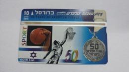 Israel-(bzp25)-basket Ball-(tirage-1.035)-mint Card+1card Prepiad Free - Israele