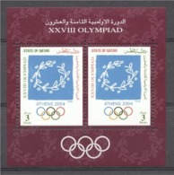 Quatar 2004, Olympic Games In Athens, Block - Qatar