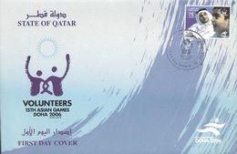 Quatar 2006, 15th Asian Games, Doha - Volunteers, FDC - Qatar