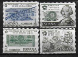 ESPAGNE  N°  1968/71   * *  Independance Des Usa Fusil Calvez Dollar Bataille De Pensacola - Us Independence