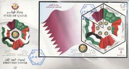 Quatar 2006, 25th Gulf Cooperation Council Or GCC, Flags, FDC - Qatar
