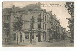 Gent Le Boulevard De La Citadelle Et L'Avenue Des Arts Oude Postkaart Gand Carte Postale Ancienne - Gent