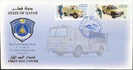 Quatar 2006, Civil Defence Day, FDC - Qatar