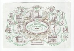 Carte Porcelaine, Koperslaeger  Slijpstraete  Gent  Gend Lithogr. E. Gyselynck  Gent  Ca 1850Afm.: 20x 13,cm VG - Porzellan