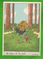CP  BARRE-DAYEZ N° 1430 G  Le Lion Et Le Rat De Jean De La Fontaine - Altre Illustrazioni