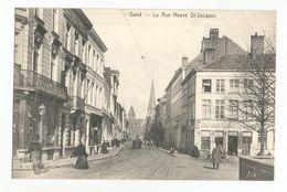 Gent La Rue Neuve St Jacques Oude Postkaart Gand Carte Postale Ancienne - Gent
