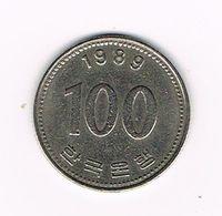 //  ZUID KOREA 100 WON 1989 - Korea, South