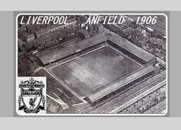 CARTE DE STADE . LIVERPOOL  ANGLETERRE  ANFIELD  1906  # D.M. 032 - Soccer