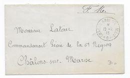"""1915 - BUREAU AMBULANT D'ARMEE.3 """"B"""" RARE Sur ENVELOPPE FM => CHALONS SUR MARNE - 1. Weltkrieg 1914-1918"""
