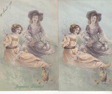 CPA Illustrateur :signée PRINTZ, M.M.VIENNE N°356. (2 Cartes Dont Une écrite En 1908.) - Andere Zeichner