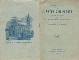 Libretto Breve Vita S. Antonio Padova Busto Arsizio Sacro Cuore (805) - Boeken, Tijdschriften, Stripverhalen