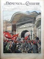 La Domenica Del Corriere 2 Febbraio 1913 Turchia Sulcis Parigi Messina Balcani - Libri, Riviste, Fumetti