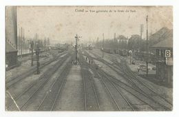 Gent Vue Générale De La Gare Du Sud Oude Postkaart Gand Carte Postale Ancienne Rails Wagons - Gent