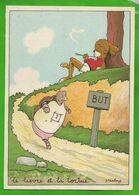 CP  BARRE-DAYEZ N° 1430 D  Le Lièvre Et La Tortue Jean De La Fontaine - Altre Illustrazioni
