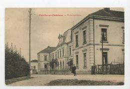 CPA: 01 - CHATILLON-SUR-CHALARONNE - ECOLE SUPERIEURE - - Châtillon-sur-Chalaronne
