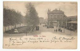 Gent La Gare Oude Postkaart Gand Carte Postale Ancienne Animée - Gent
