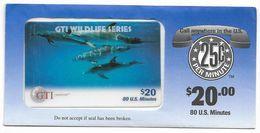GTI  U.S.A., Fauna, $20 Prepaid Phone Card, SAMPLE, # Gti-4 - Schede Telefoniche