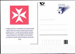 Cesca, 1995, P 16, MALTESERKREUZ - Ganzsachen