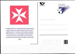 Cesca, 1996, P 19, MALTESERKREUZ - Ganzsachen