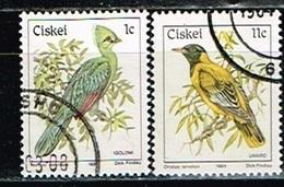 CISKEI  /Oblitérés/Used/1984 - Oiseaux / Loriot Masqué Et Touraco - Ciskei